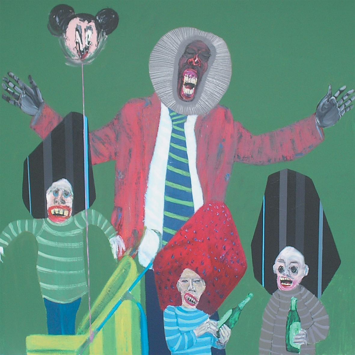 """Albert Oszek """"Bez tytułu"""", 2011, akryl na płótnie, 150 x 150 cm"""