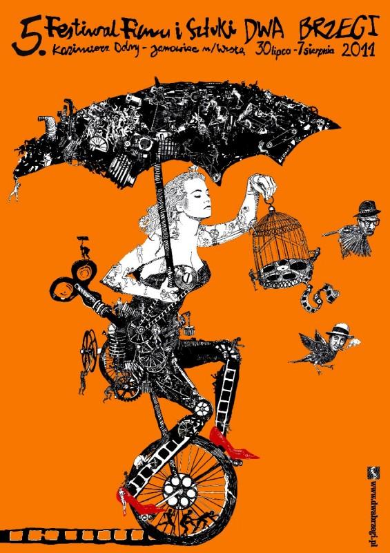 Festiwal Filmu i Sztuki Dwa Brzegi - plakat, materiał udostępniony przez organizatora