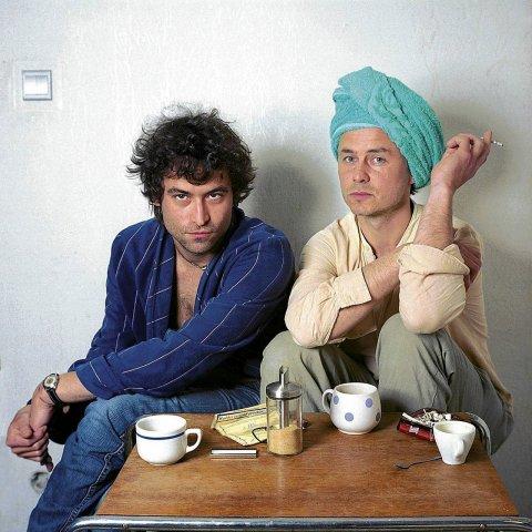 Kajetan Pisarzowic ze swoim przyjacielem Martinem Sterbą, Przeciętni (zdjęcie pochodzi z materiałów organizatora)