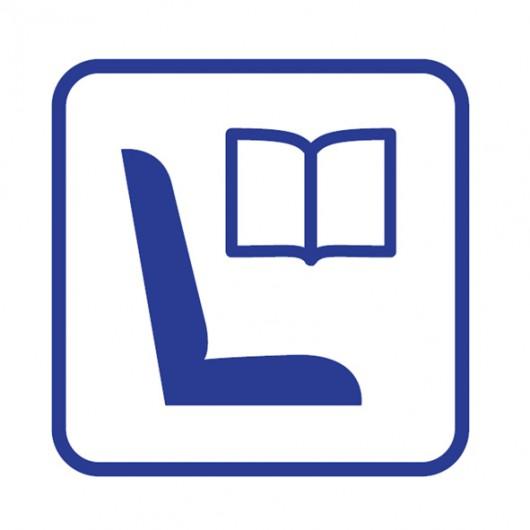 Miejsce dla czytelnika - piktogram