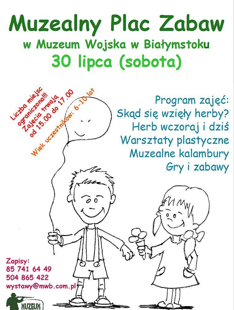 Plakat Muzealnego Placu Zabaw (z materiałów organizatora)