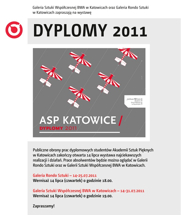 Najlepsze Dyplomy 2011, ASP Katowice - plakat, materiał udostępniony przez organizatora