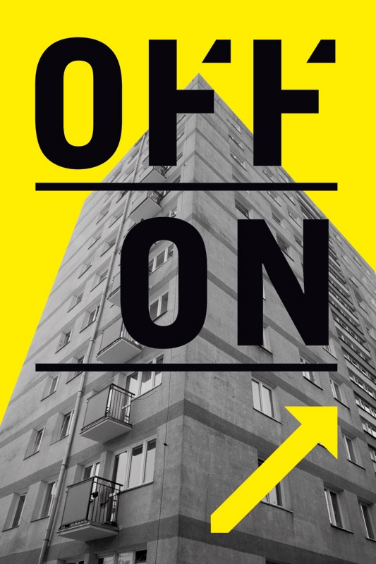 Off|On - plakat autorstwa Patrycji Orzechowskiej do projektu Off Centre w Sopocie, materiał udostępniony przz organizatora
