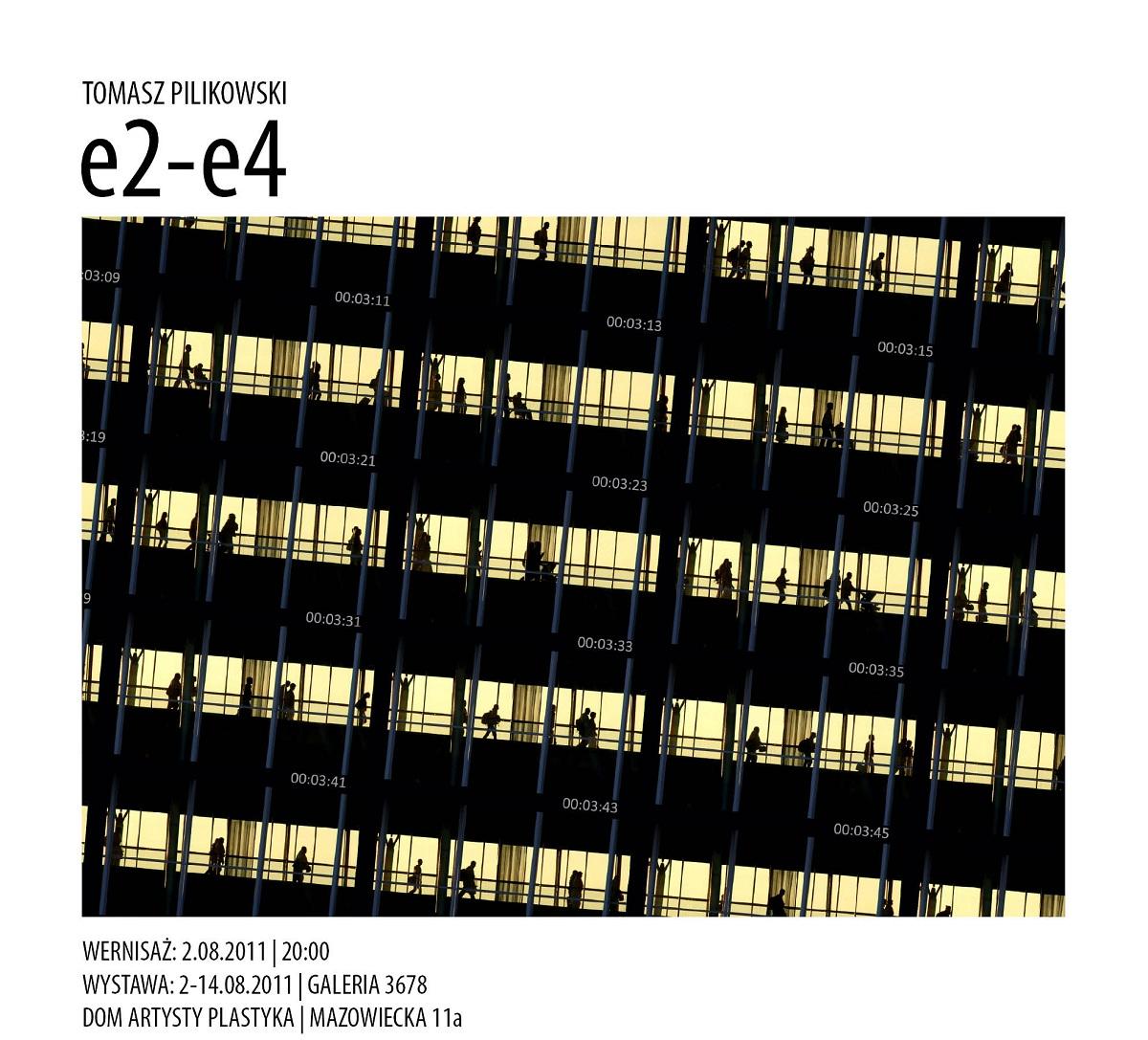 """Tomasz Pilikowski """"e2-e4"""", Galeria 3678 - materiał udostępniony przez organizatora"""