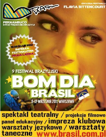Plakat Festiwalu Bom Dia Brasil (plakat pochodzi z materiałów udostępnionych przez organizatora)