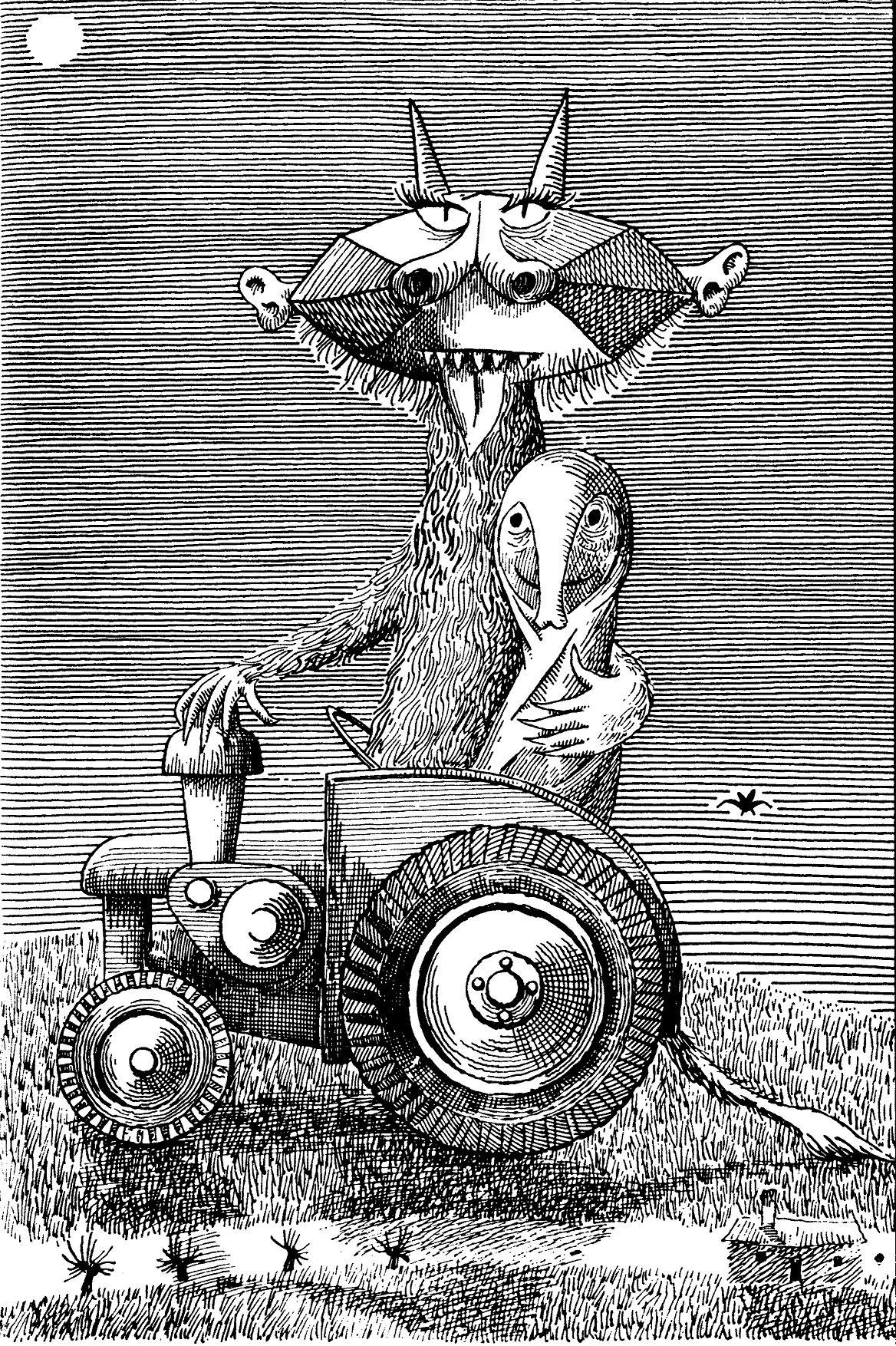 Daniel Mróz - ilustracja do Słonia Sławomira Mrożka