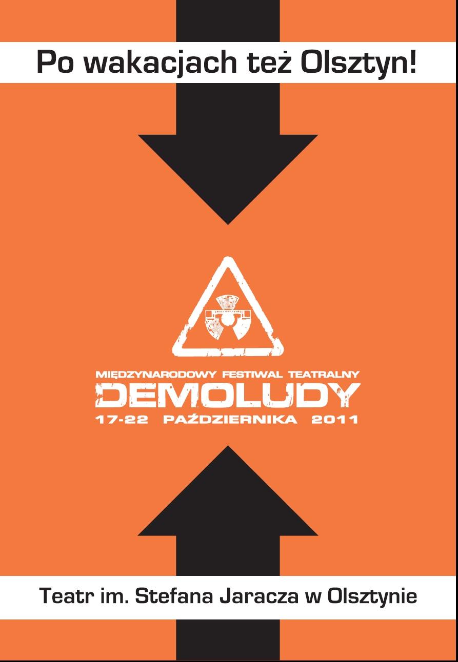 Plakat Festiwalu Demoludy (plakat pochodzi z materiałów udostępnionych przez organizatora)