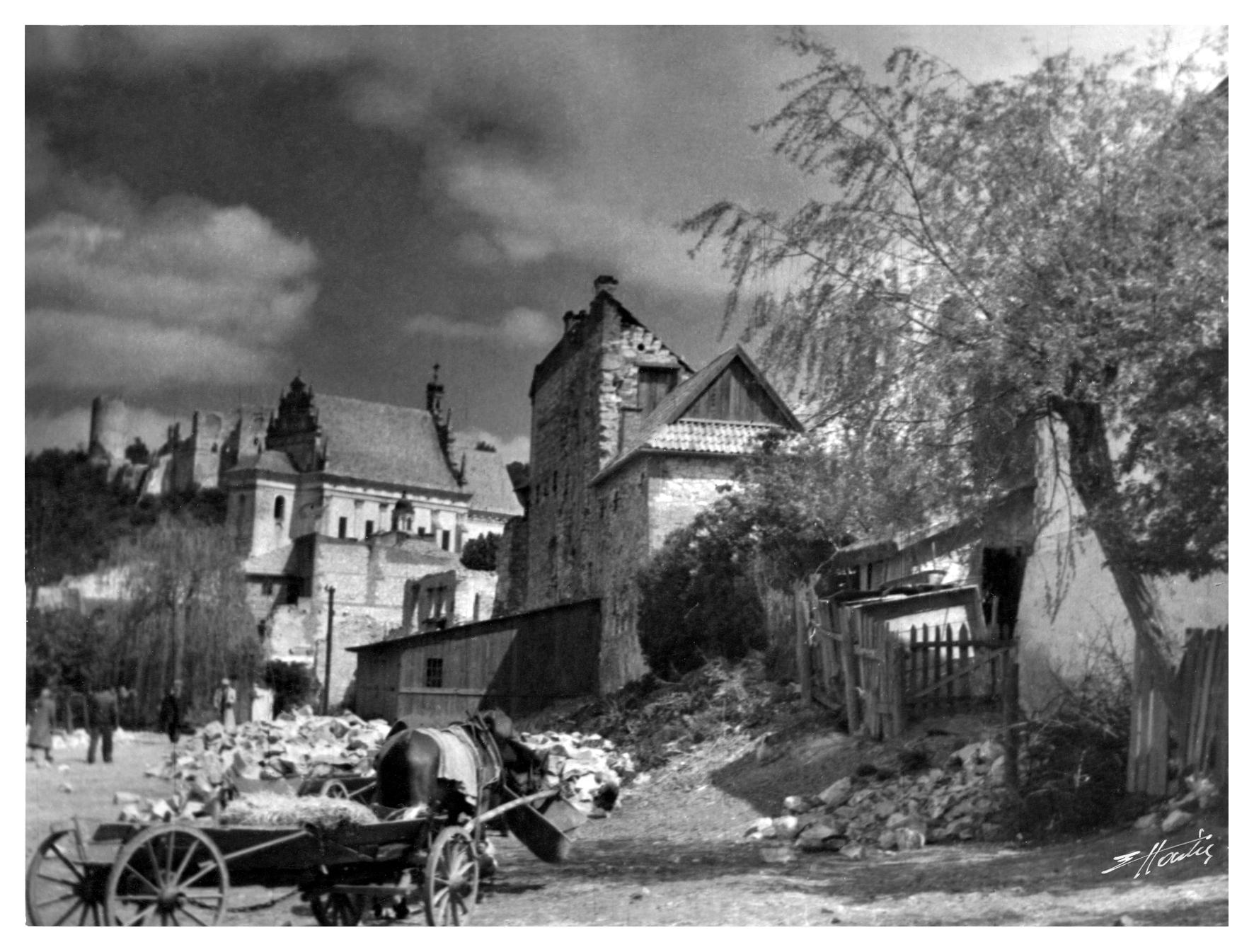 E. Hartwig, Panorama z furmanką, 1935 r.