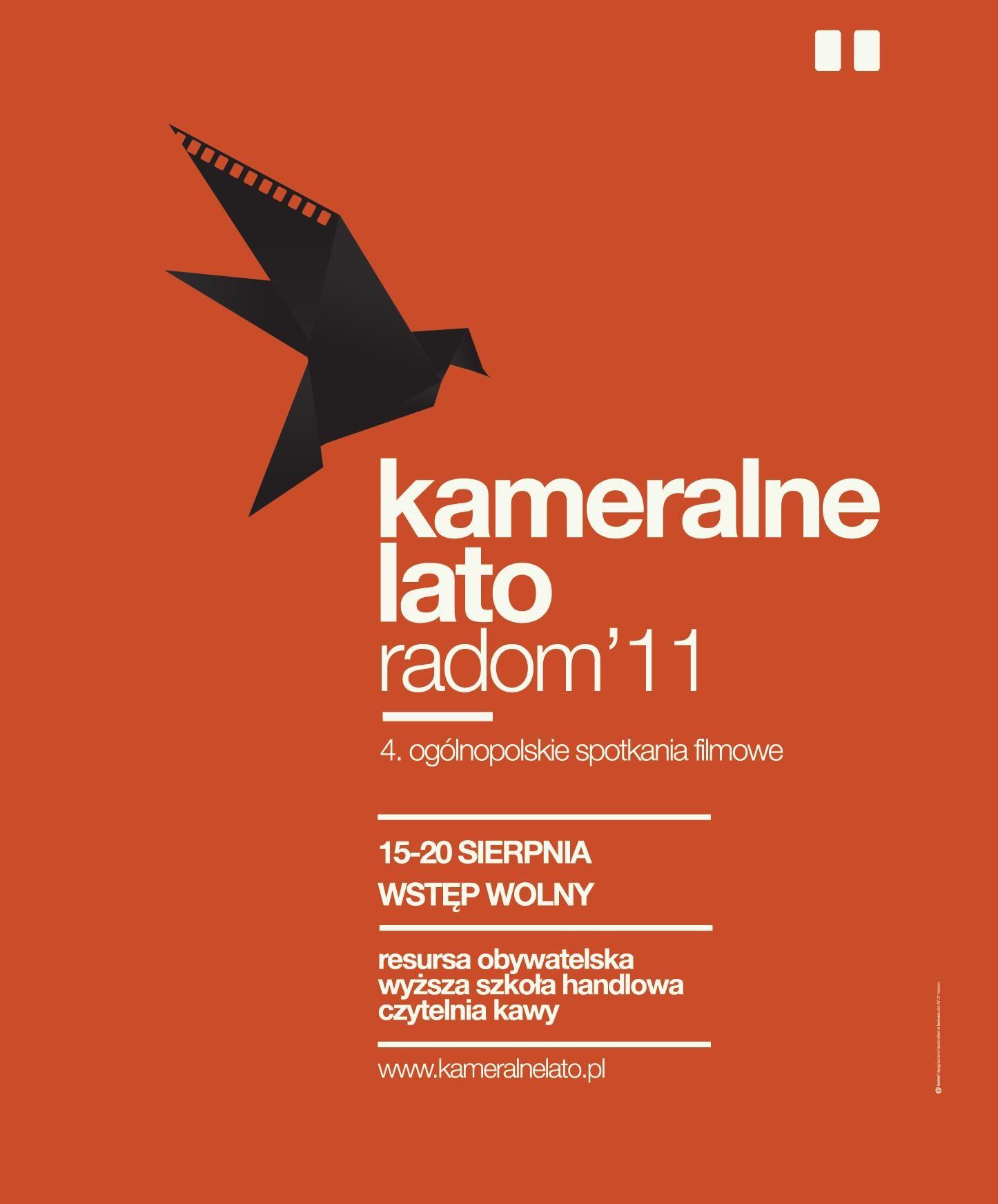 Plakat festiwalu Kameralne Lato (plakat pochodzi z materiałów udostępnionych przez organizatora)