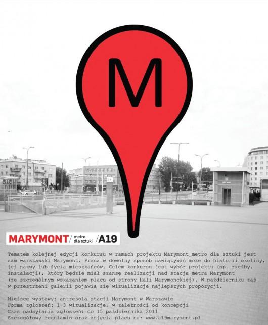 Plakat konkursu Marymont_metro dla sztuki (plakat pochodzi z materiałów udostępnionych przez organizatora)