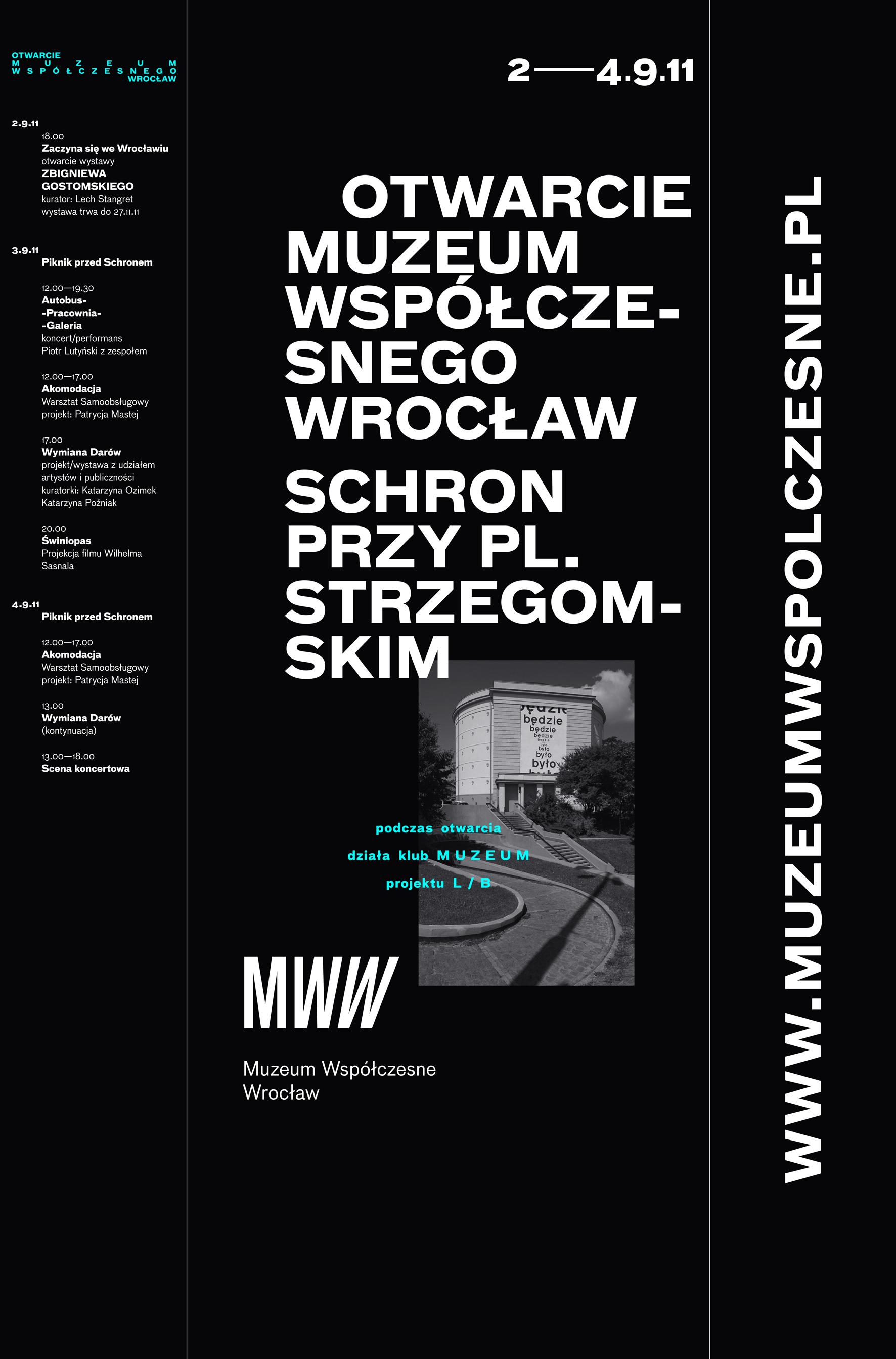 Program otwarcia MWW, materiały prasowe MWW