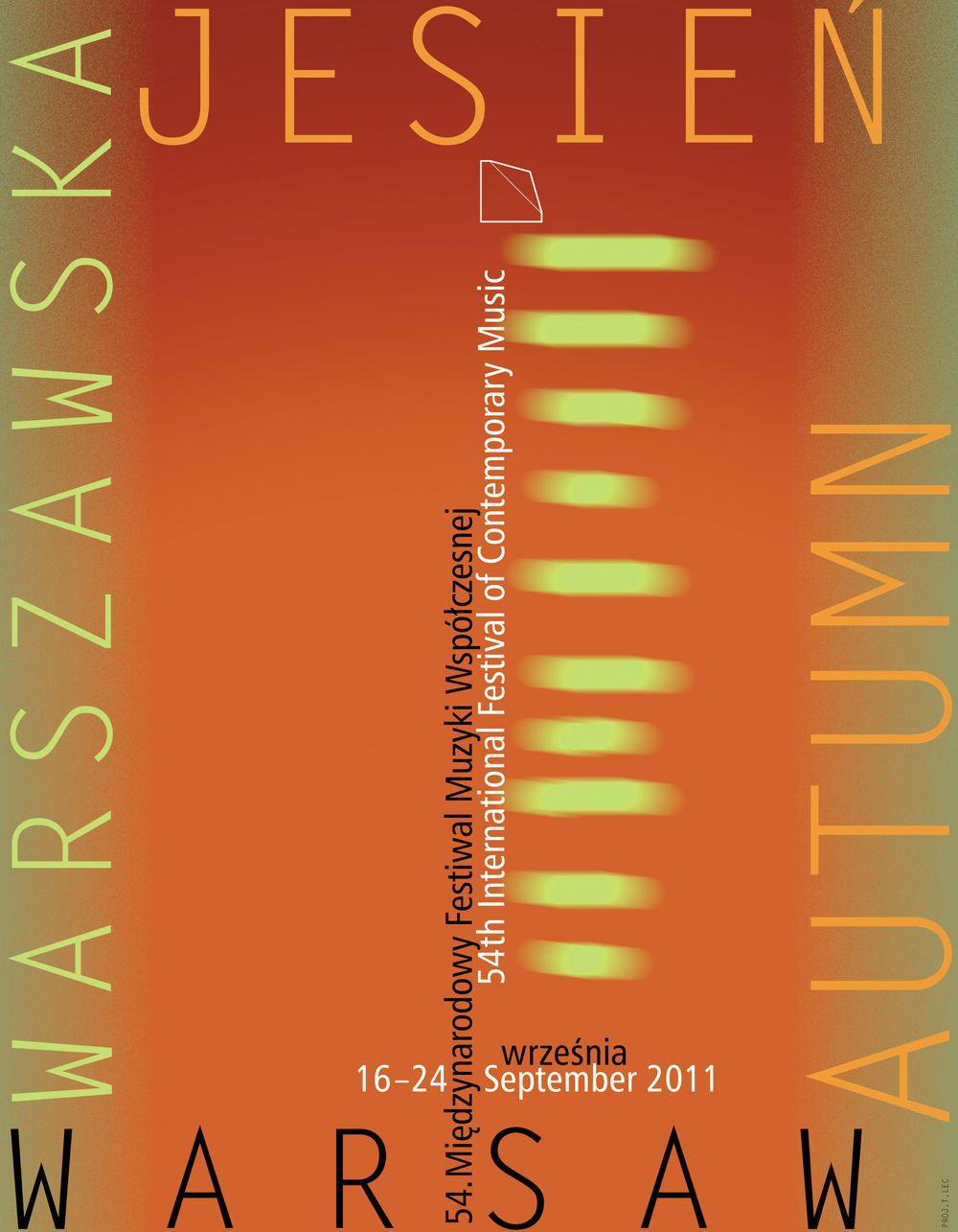 Międzynarodowy Festiwal Muzyki Współczesnej Warszawska Jesień, plakat (zdjęcie pochodzi z materiałów organizatora)