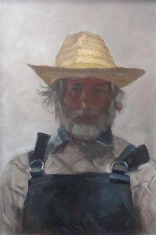 Stanisław Mazuś Autoportret w słomkowym kapeluszu (zdjęcie pochodzi z materiałów prasowych)
