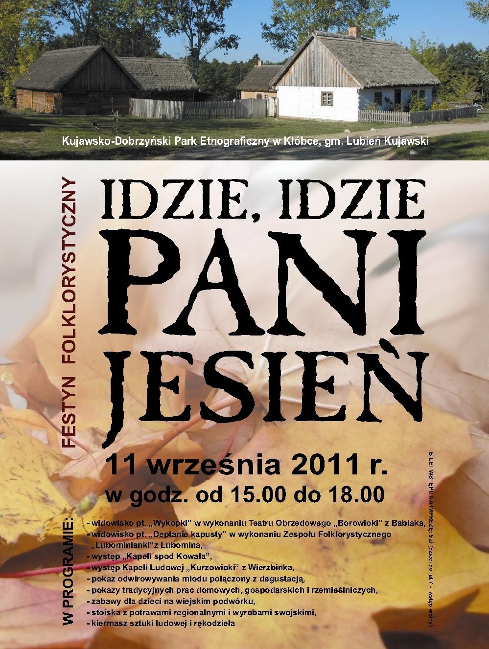 Idzie, idzie Pani Jesień, plakat, proj. Magdalena Kolanowska