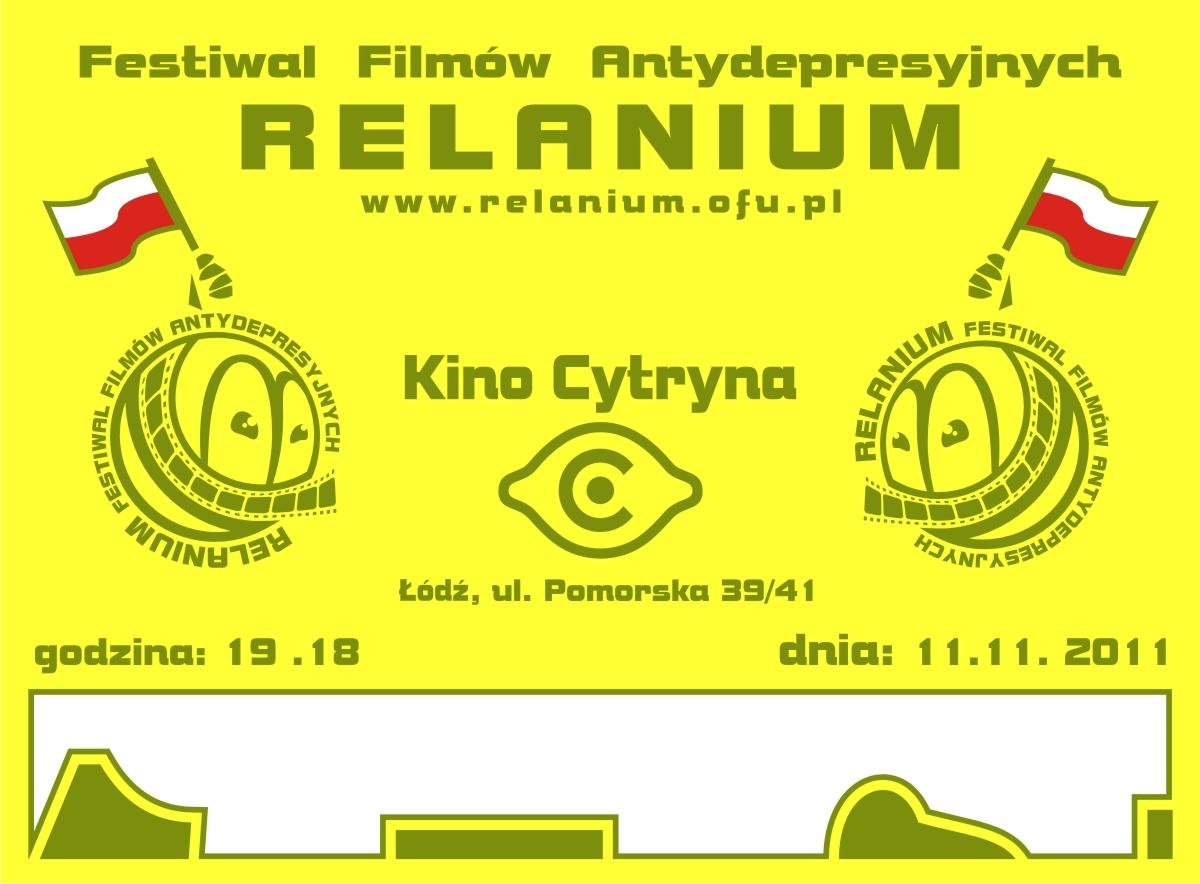 RELANIUM 2011, plakat (zdjęcie udostępnione przez organizatora)