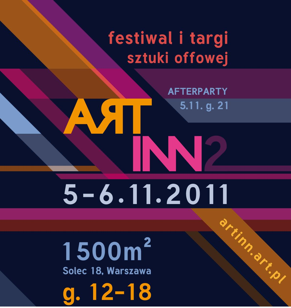 Plakat Festiwalu Art Inn (źródło: materiały Fundacji Koncept Box)