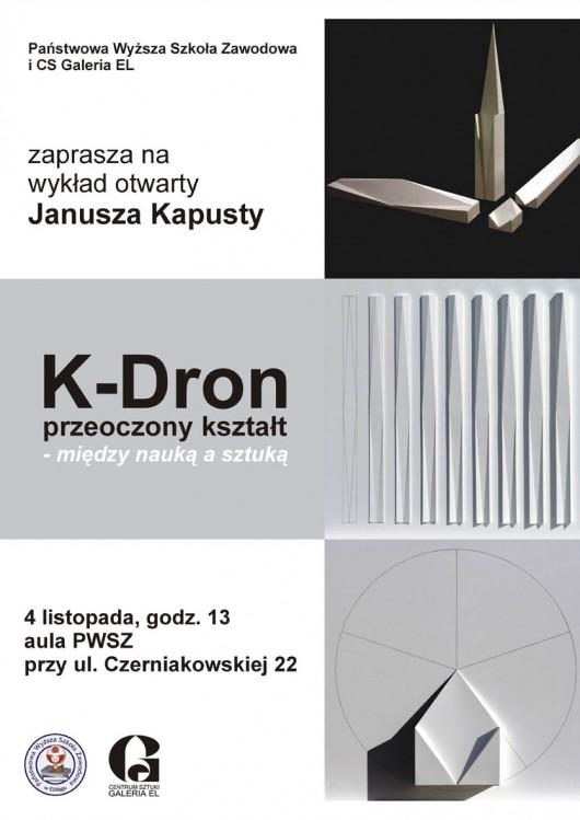 Plakat promujący spotkanie z Januszem Kapustą (źródło: materiały prasowe Galerii El)