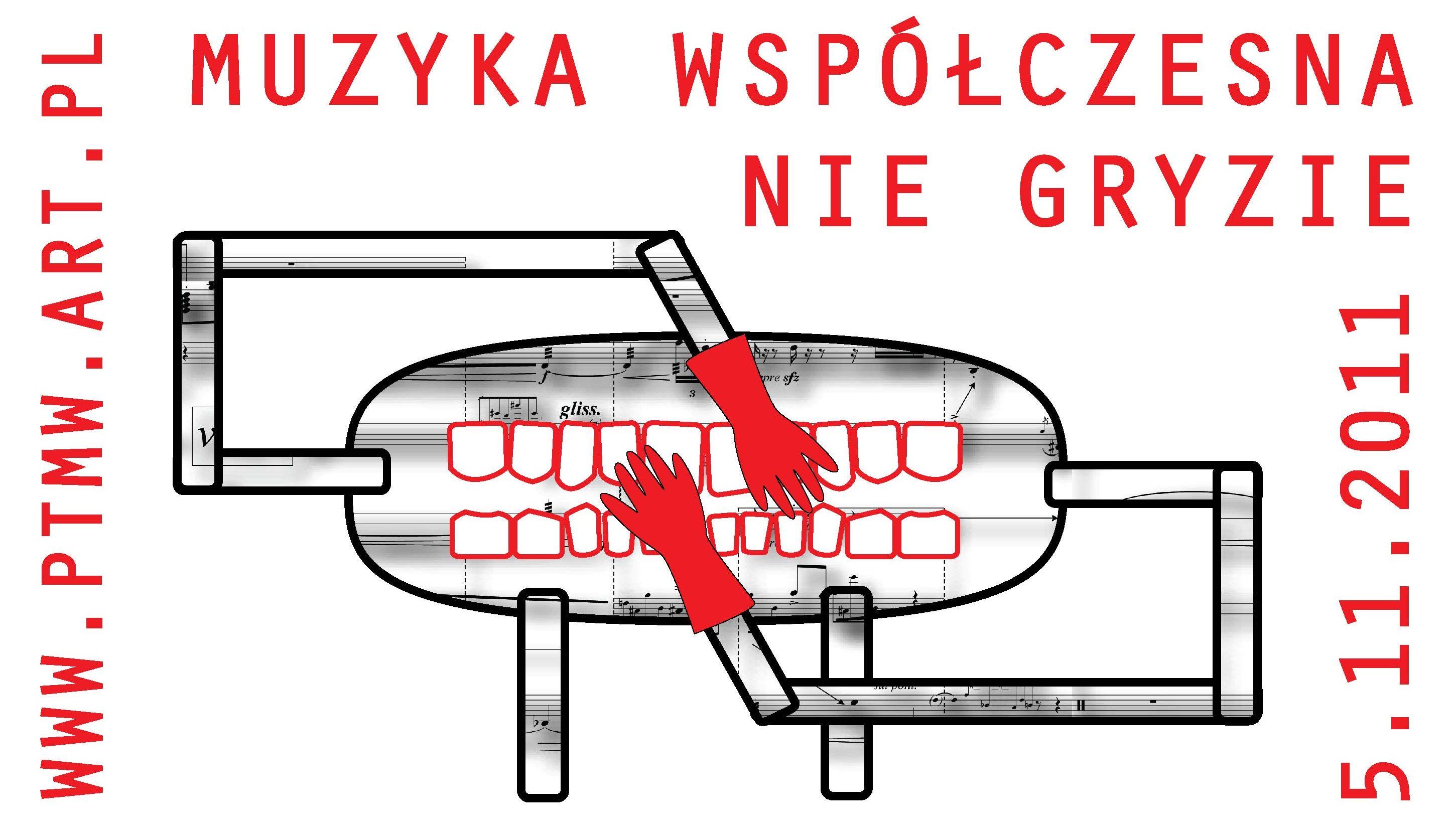 Plakat promujący cykl- Muzyka nie gryzie (źródło: materiały prasowe organizatora)