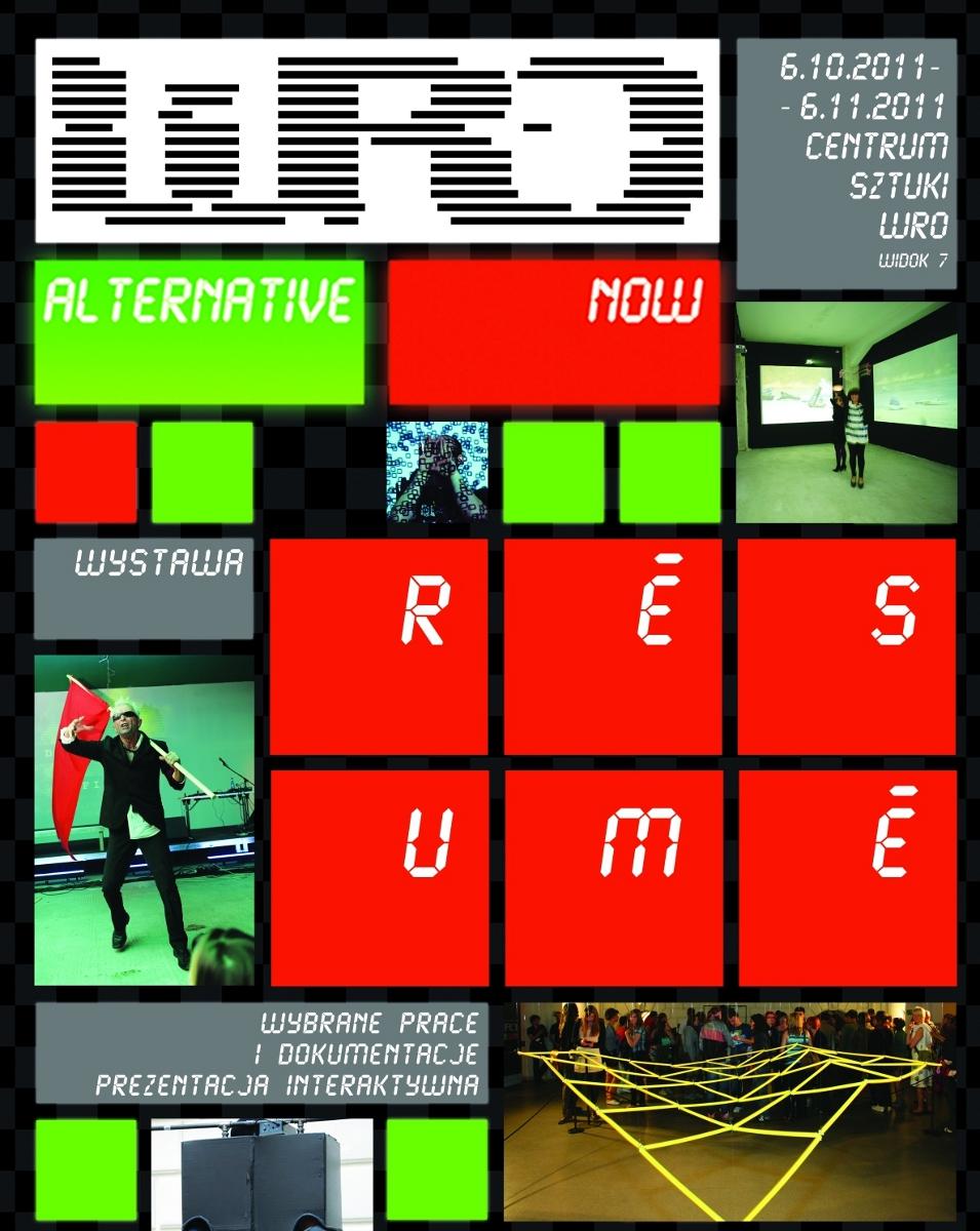 Wro Alternative Now Résumé (plakat pochodzi z materiałów prasowych)