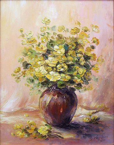 """Bożena Przywara """"Kwiaty"""" (źródło:materiały prasowe organizatora)"""