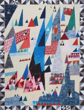 Futuro-góra 3, 2010, tempera jajkowo- werniksowa, płótno, 170x130cm (źródło: materiały organizatora)