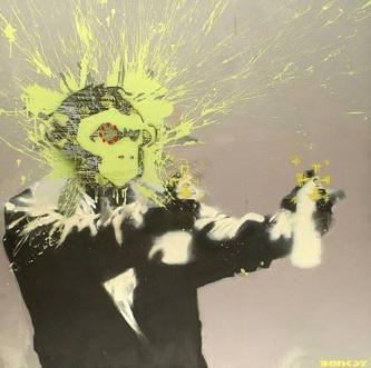Banksy, Autoportret (źródło: materiały prasowe Centrum Kultury w Lublinie)