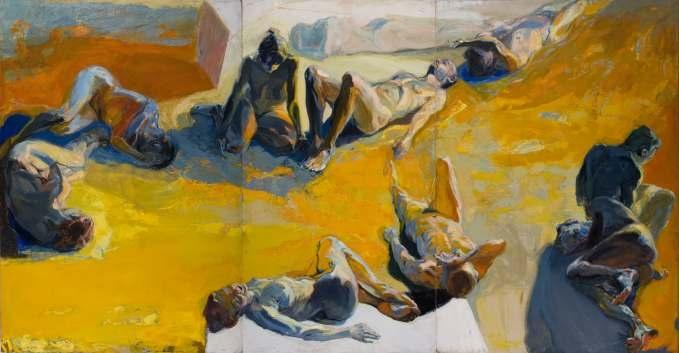 Adam Nowaczyk, Plaża II, olej, akryl na płótnie,2006 (źródło: materiały prasowe organizatora)