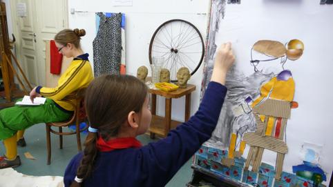 Warsztaty plastyczne dla dzieci w Fundacji Atelier (źródło: materiał prasowy organizatora)