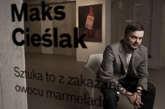 """Wernisaż wystawy Maksa Cieślaka """"Sztuka to z zakazanego owocu marmelada"""", Muzeum Współczesne Wrocław, fot. B. Sadowski (źródło: materiały prasowe organizatora)"""
