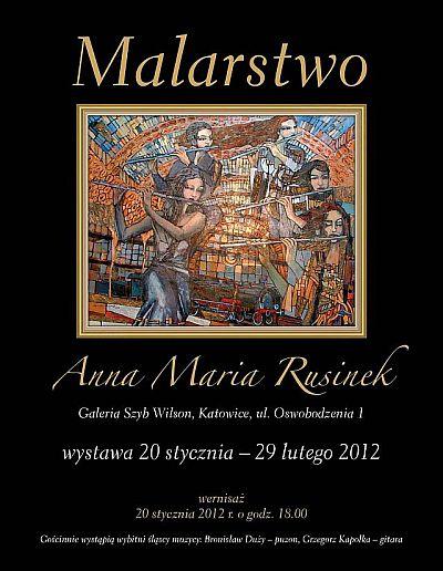 "Anna Maria Rusinek ""Plakat"" (źródło: materiały prasowe Galerii)"