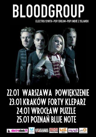 Bloodgroup - plakat trasy koncertowej (źródło: materiał prasowy organizatora)