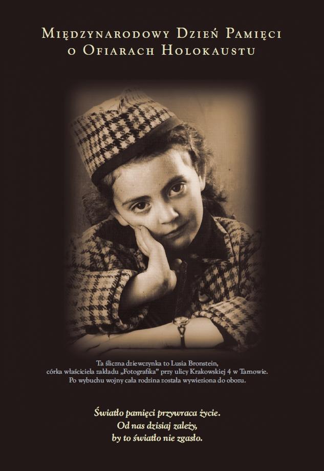 Plakat obchodów 7. Międzynarodowego Dnia Pamięci o Ofiarach Holokaustu (źródło: materiały prasowe organizatora)