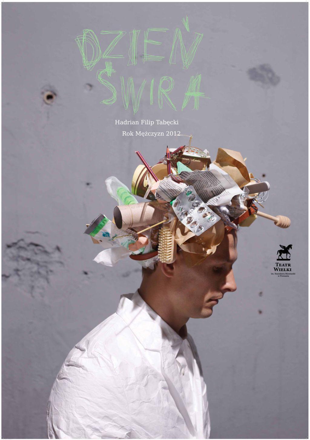 """Plakat opery """"Dzień Świra"""" (źródło: materiały prasowe Teatru Wielkiego w Poznaniu)"""