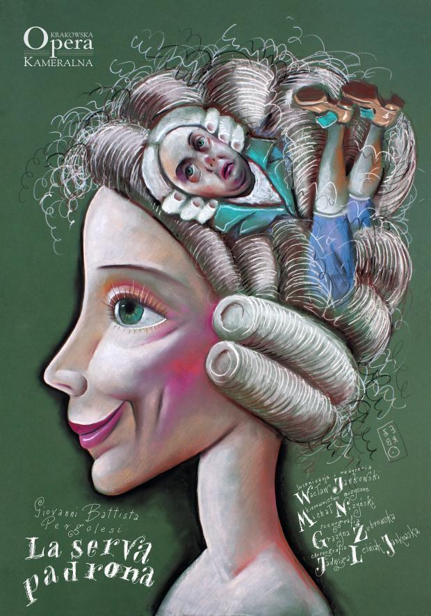 "Plakat ""La serva padrona"" (źródło: materiały prasowe KOK)"