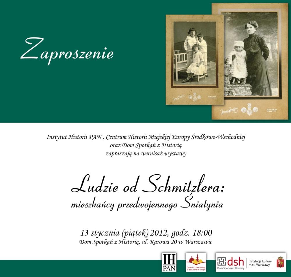 Ludzie od Schmitzlera: mieszkańcy przedwojennego Śniatynia (źródło: materiały prasowe Domu Spotkań z Historią)