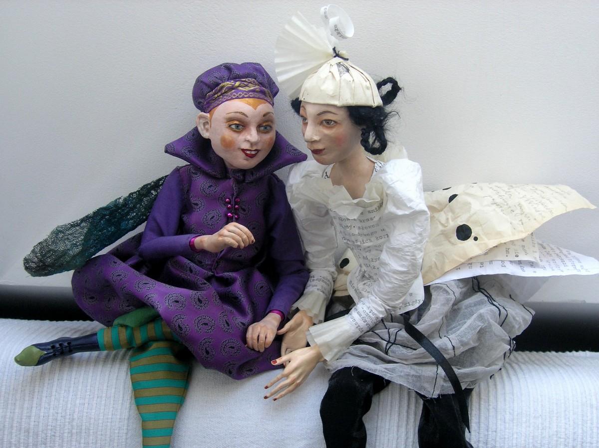 """""""Śpiąca królewna"""", projekt i wykonanie lalek Grażyna Rigall (źródło: materiały prasowe organizatora)"""