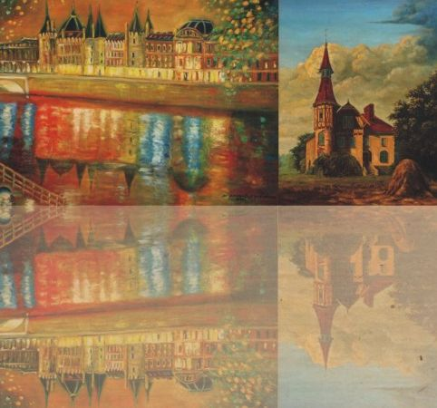 """""""Malarstwo na cztery ręce"""", plakat (źródło: materiał prasowy)"""