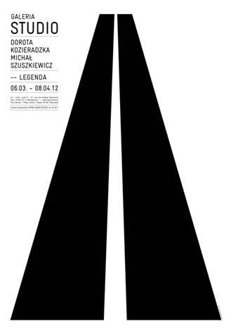 """Dorota Kozieradzka i Michał Szuszkiewicz """"Legenda"""", proj. Małgorzata Gurowska, plakat (źródło: materiał prasowy)"""