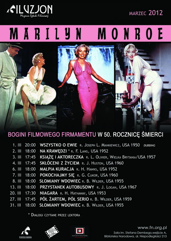 Bogini filmowego firnamentu - Marilyn Monroe - plakat (źródło: materiały prasowe)