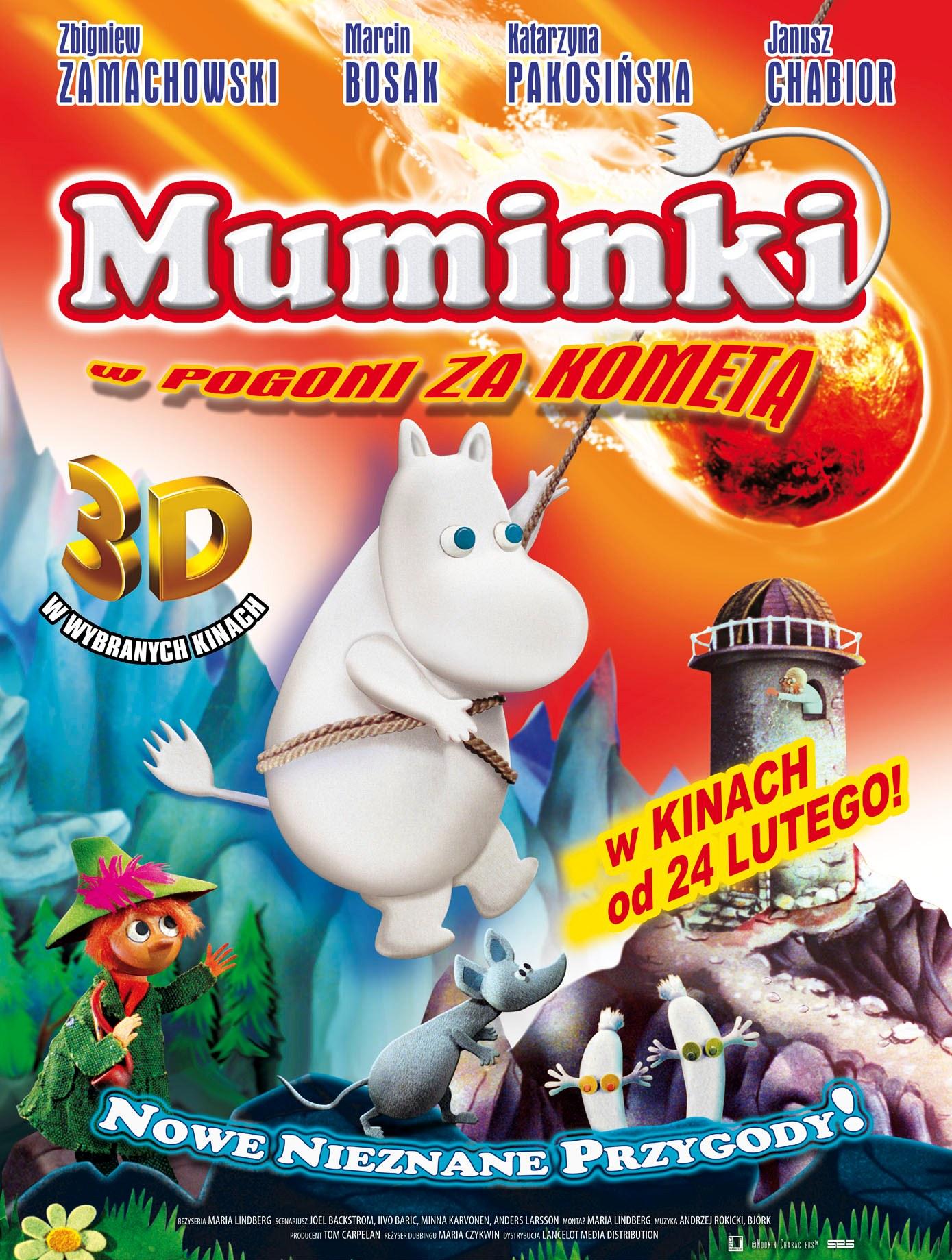 Plakat filmu Muminki w pogoni za kometą (źródło: materiał prasowy dystrybutora)