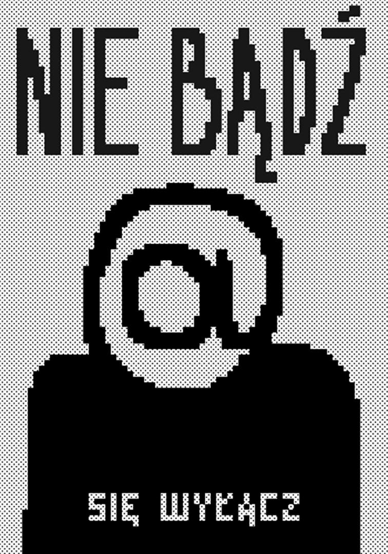 plakat autorstwa Piotra Karskiego - zwycięzcy 5. edycji konkursu na plakat Tworzymy bezpieczny Internet