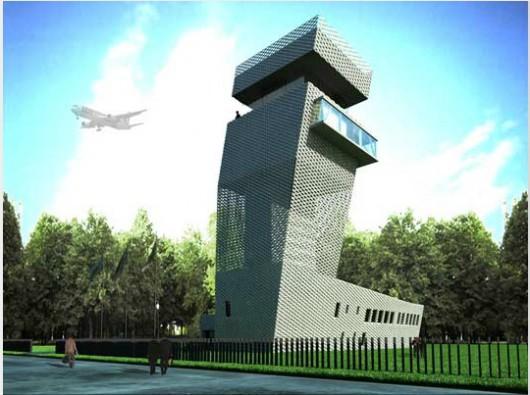 Projekt Wieży Kontroli Ruchu Lotniczego w Łodzi (źródło: materiał prasowy)