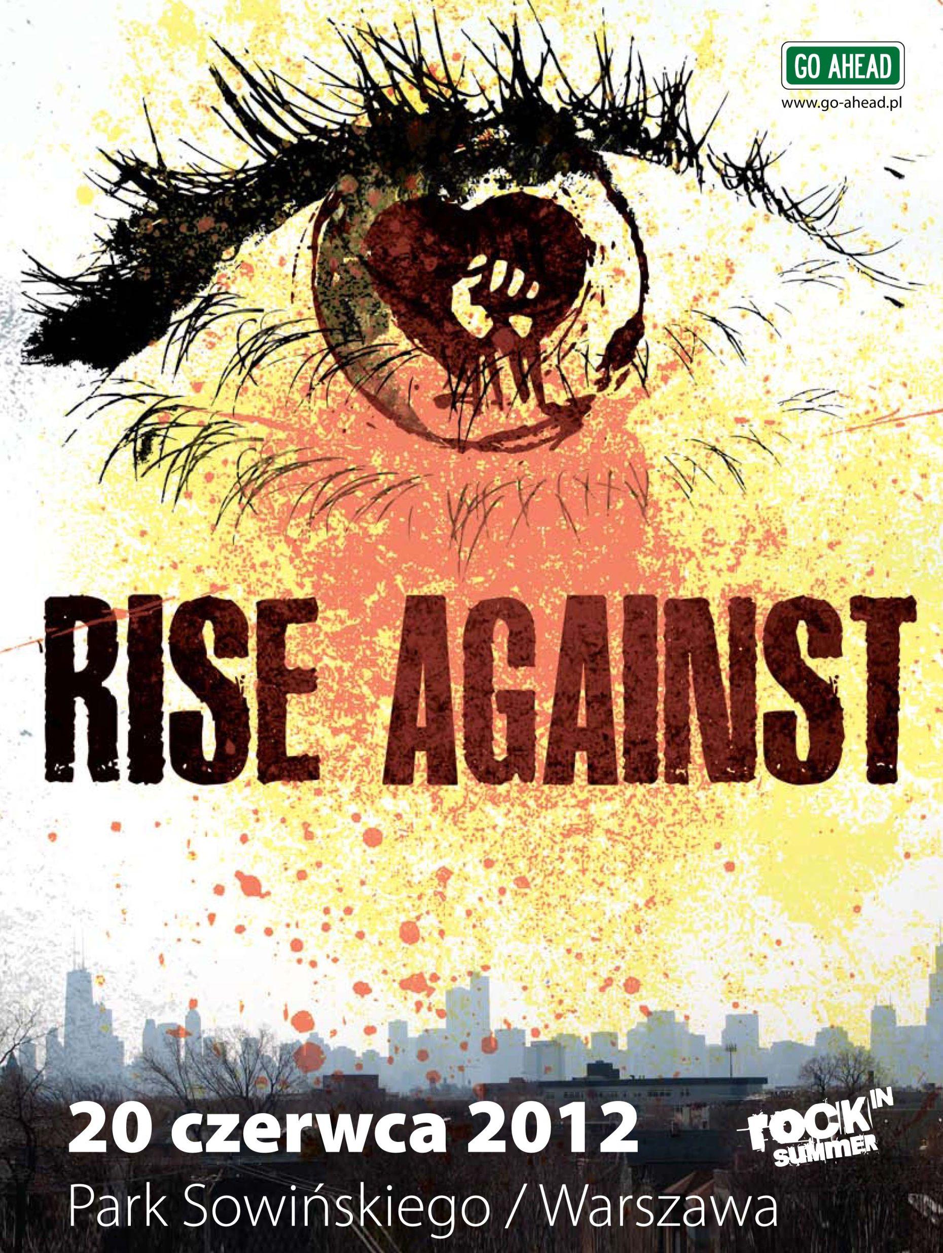 Plakat koncertu Rise Against (źródło: materiał prasowy organizatora)