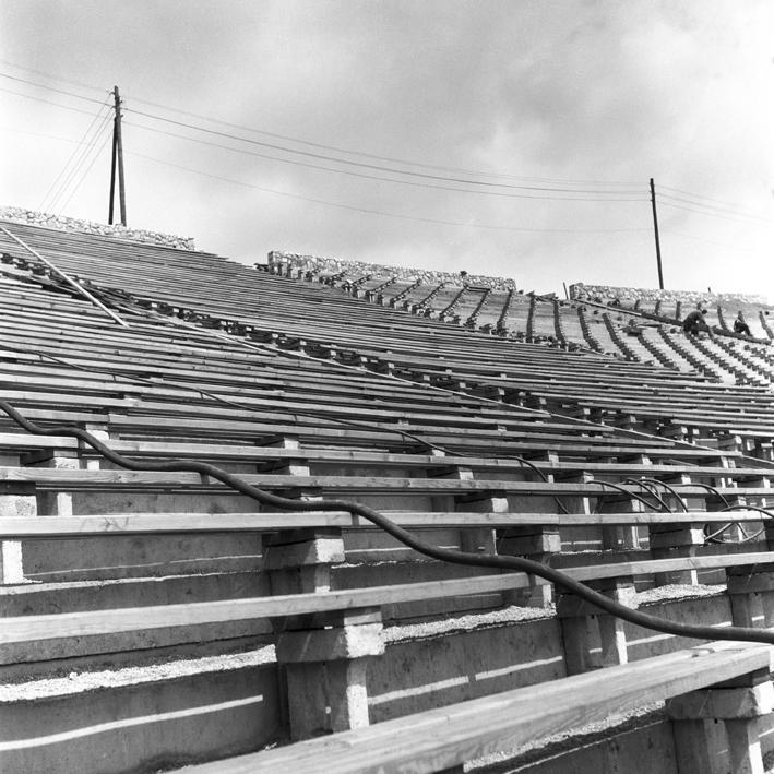 Fot. Zbigniew Dłubak, Stadion, 1955 (źródło: materiał prasowy)