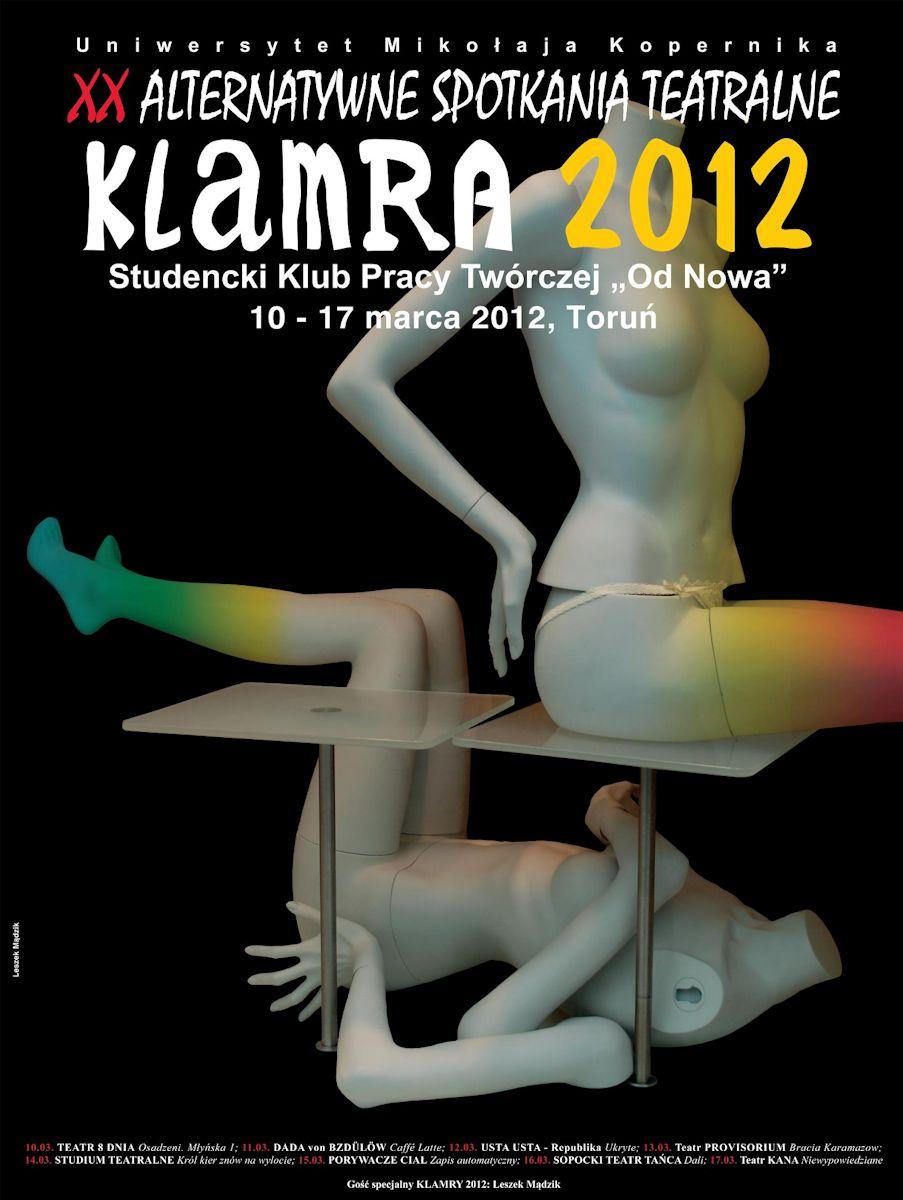 Alternatywne Spotkania Teatralne Klamra 2012, plakat, proj. Leszek Mądzik (źródło: materiał prasowy