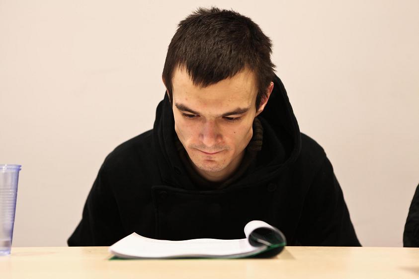 Dawid Ogrodnik, Próba czytana (źródło: materiał prasowy)