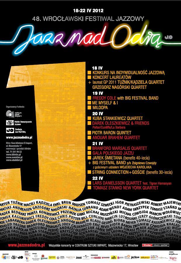Plakat festiwalu Jazz nad Odrą (źródło: materiały prasowe)