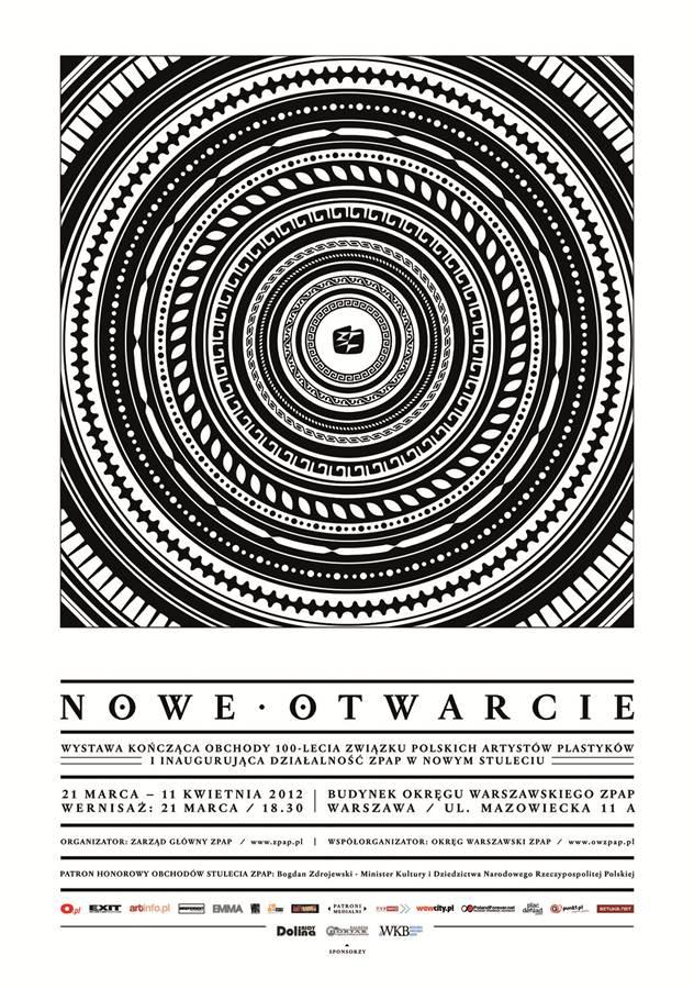 """""""Nowe otwarcie"""" - plakat wystawy (źródło: materiały prasowe)"""