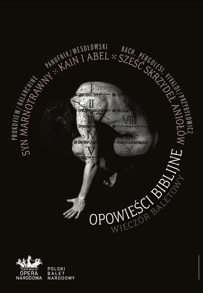 """Plakat wieczoru baletowego """"Opowieści biblijne"""" (źródło: materiał prasowy)"""