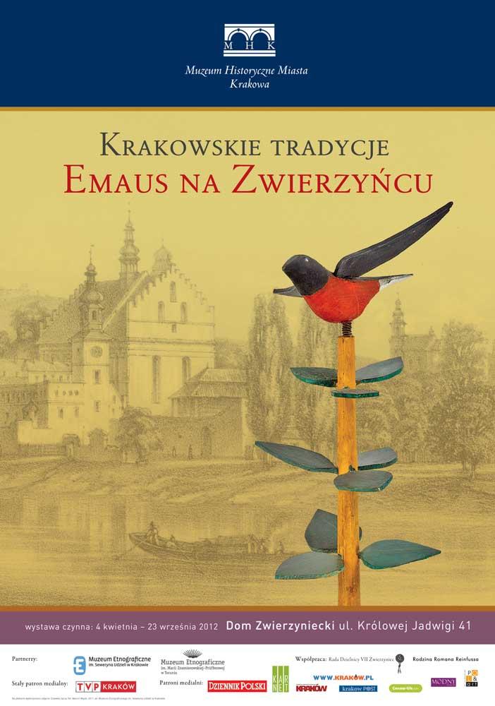 """Plakat promocyjny wystawy """"Krakowskie tradycje: Emaus na Zwierzyńcu"""" (źródło: materiały prasowe)"""